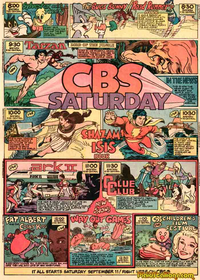 Saturday Morning Fever Podcast - comic book ad 1976 CBS cartoons