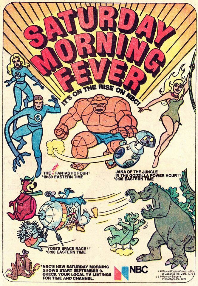 Saturday Morning Fever Podcast - comic book ad 1978 NBC cartoons