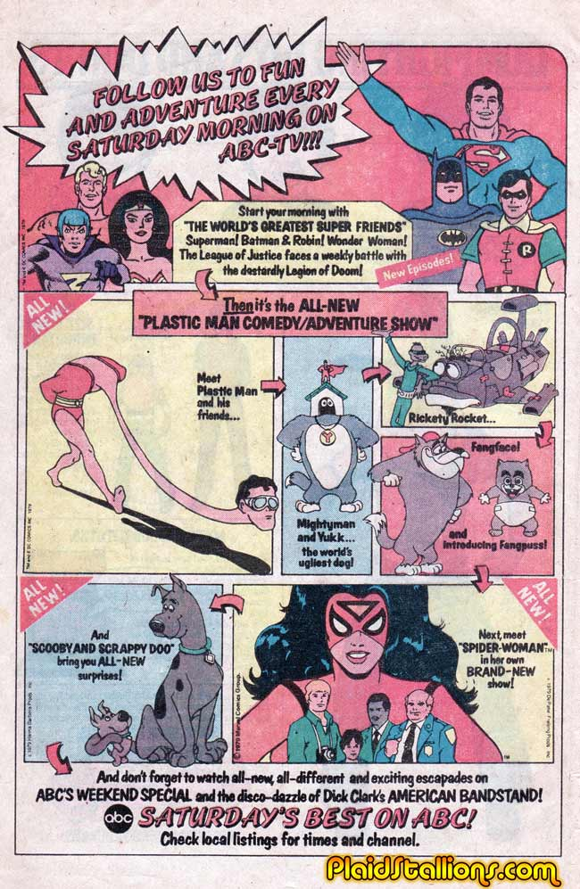 Saturday Morning Fever Podcast - comic book ad 1979 ABC cartoons