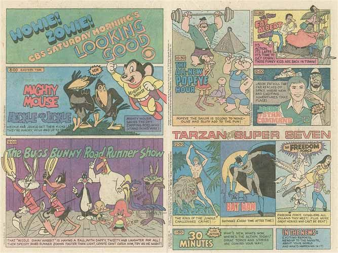 Saturday Morning Fever Podcast - comic book ad 1979 CBS cartoons
