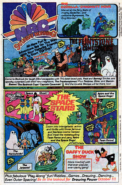Saturday Morning Fever Podcast - comic book ad 1980 NBC cartoons