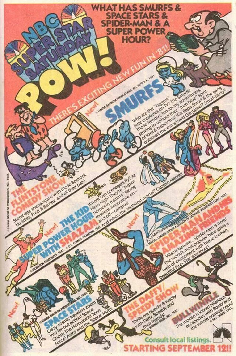 Saturday Morning Fever Podcast - comic book ad 1981 NBC cartoons