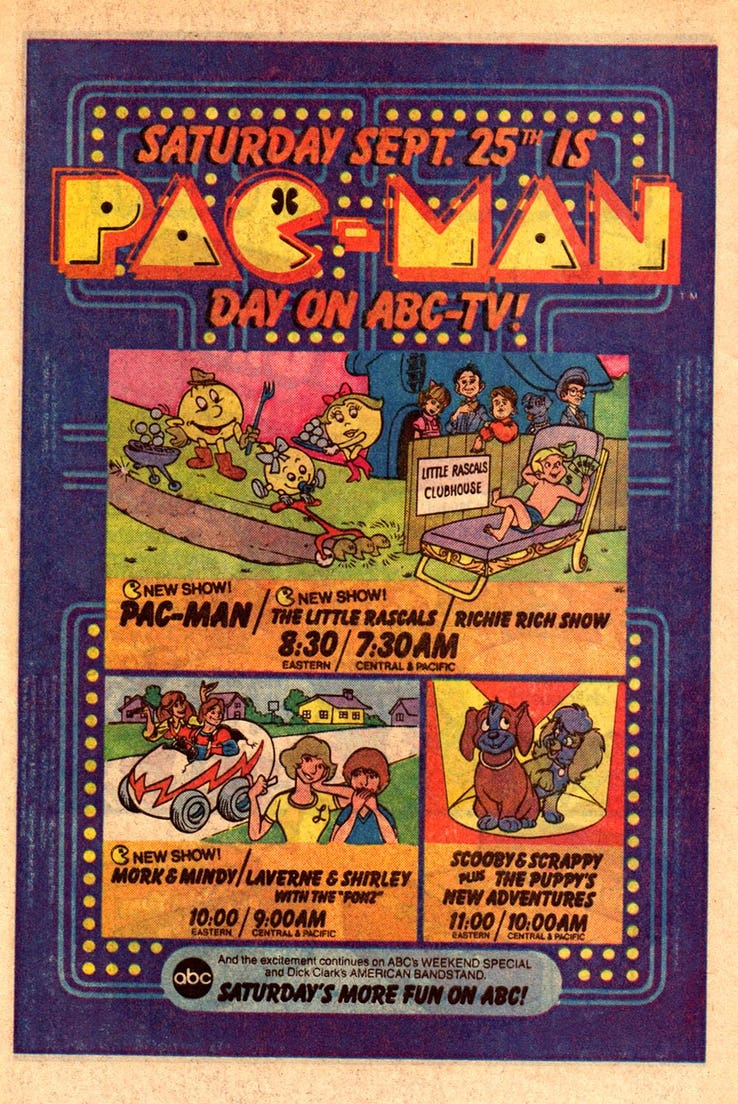 Saturday Morning Fever Podcast - comic book ad 1982 ABC cartoons