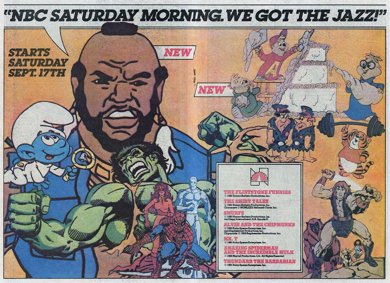 Saturday Morning Fever Podcast - comic book ad 1983 NBC cartoons