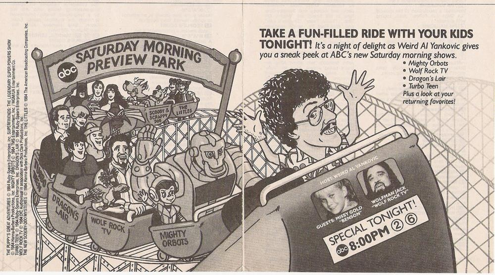 Saturday Morning Fever Podcast - ad 1984 ABC cartoons