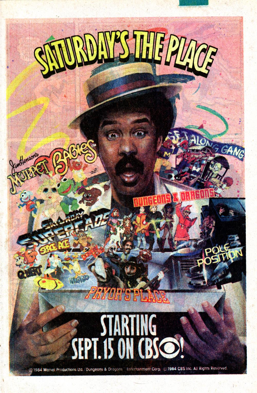 Saturday Morning Fever Podcast - comic book ad 1984 CBS cartoons