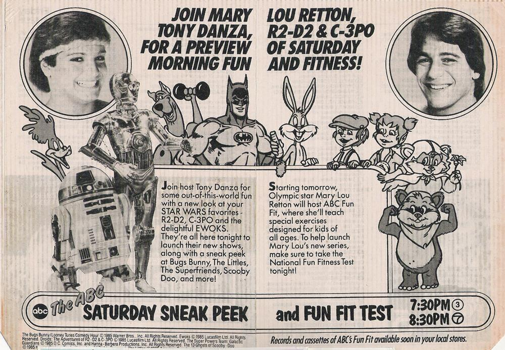 Saturday Morning Fever Podcast - comic book ad 1985 ABC cartoons