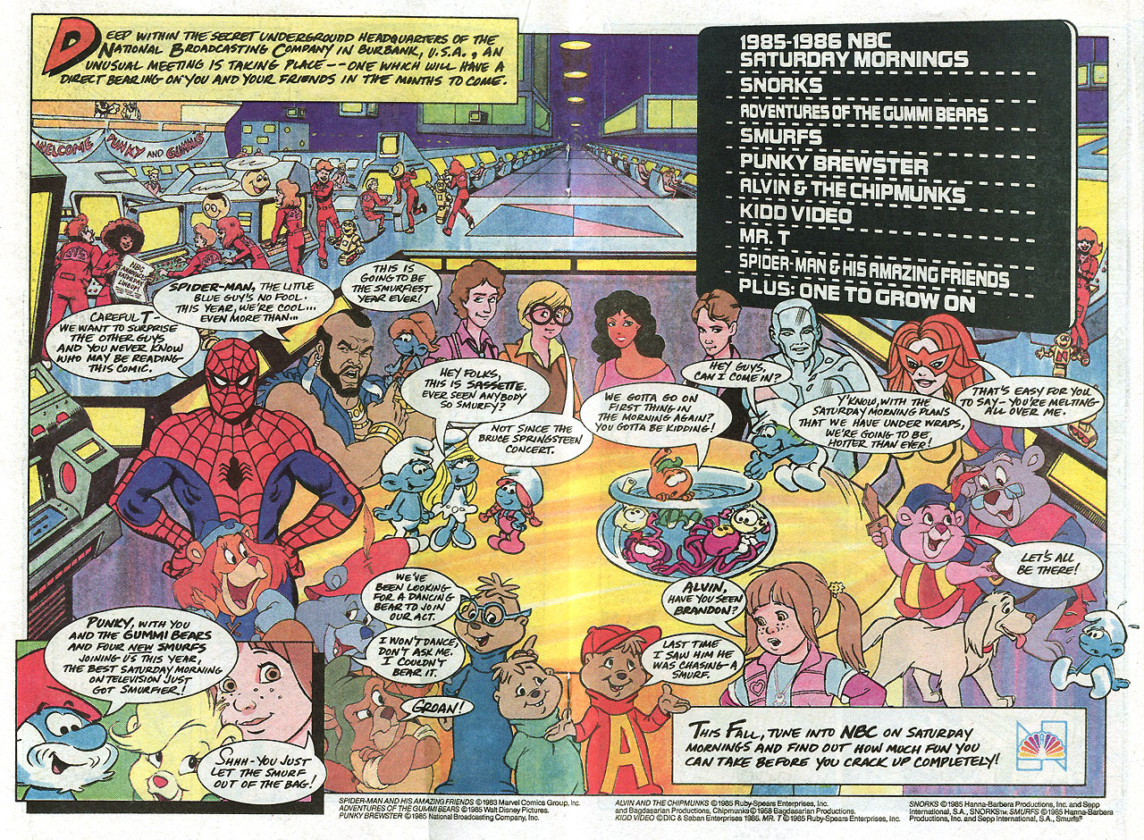 Saturday Morning Fever Podcast - comic book ad 1985 NBC cartoons