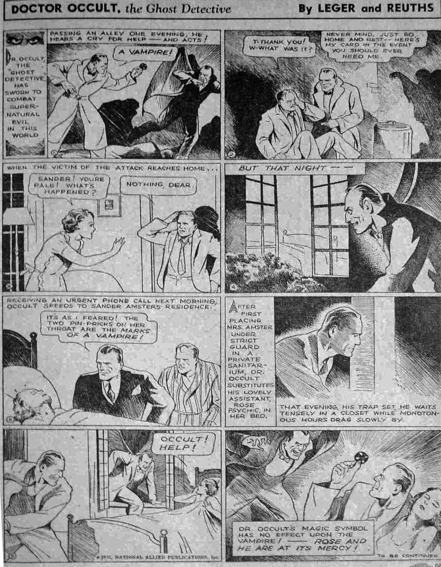 Dr Occult - New Fun Comics #6 (October 1935) by Leger and Reuths (a.k.a. Jerry Siegel and Joe Shuster)