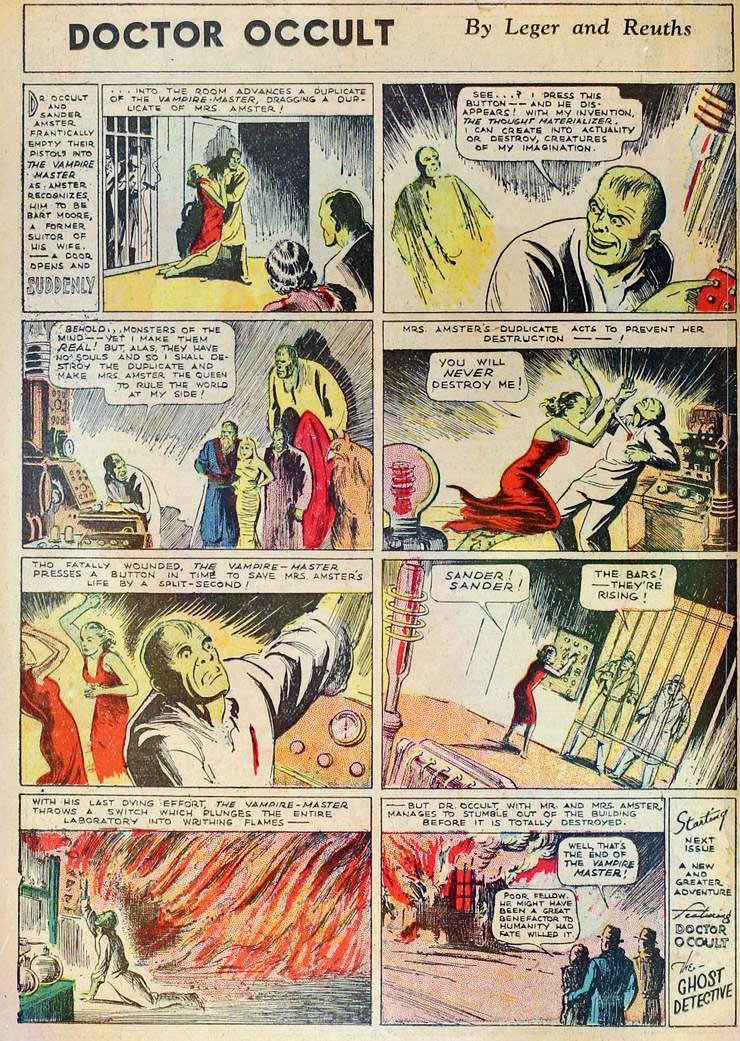 Dr Occult - More Fun Comics #9 (March-April 1936) by Leger and Reuths (a.k.a. Jerry Siegel and Joe Shuster)