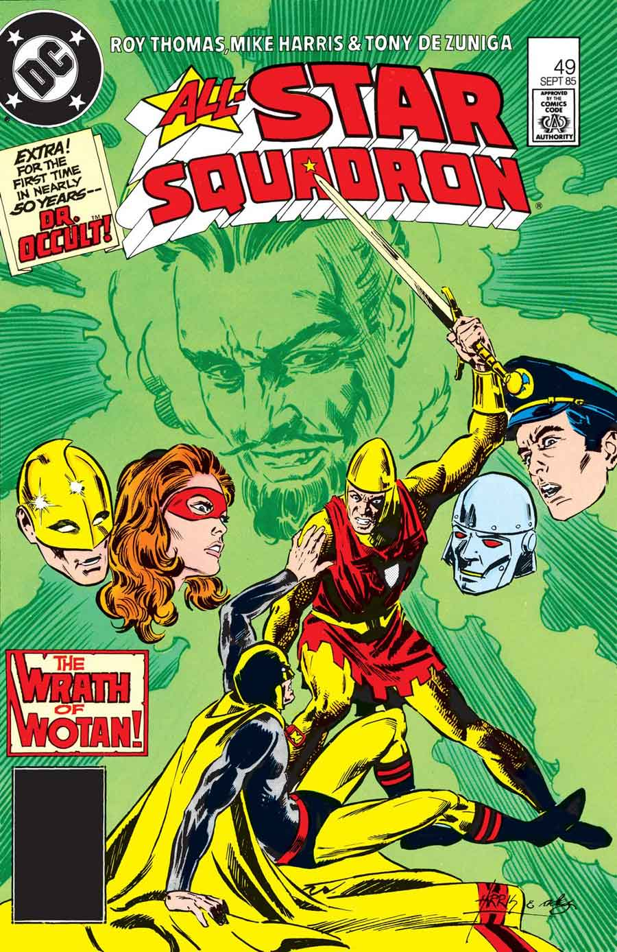 "All-Star Squadron #49 (September 1985): ""Death-Sword at Sunrise"" by Roy Thomas, Mike Harris and Tony DeZuniga"