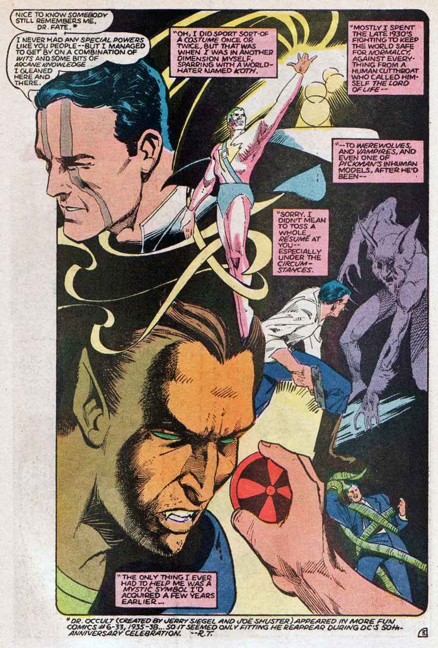 "Dr Occult - All-Star Squadron #49 (September 1985): ""Death-Sword at Sunrise"" by Roy Thomas, Mike Harris and Tony DeZuniga"
