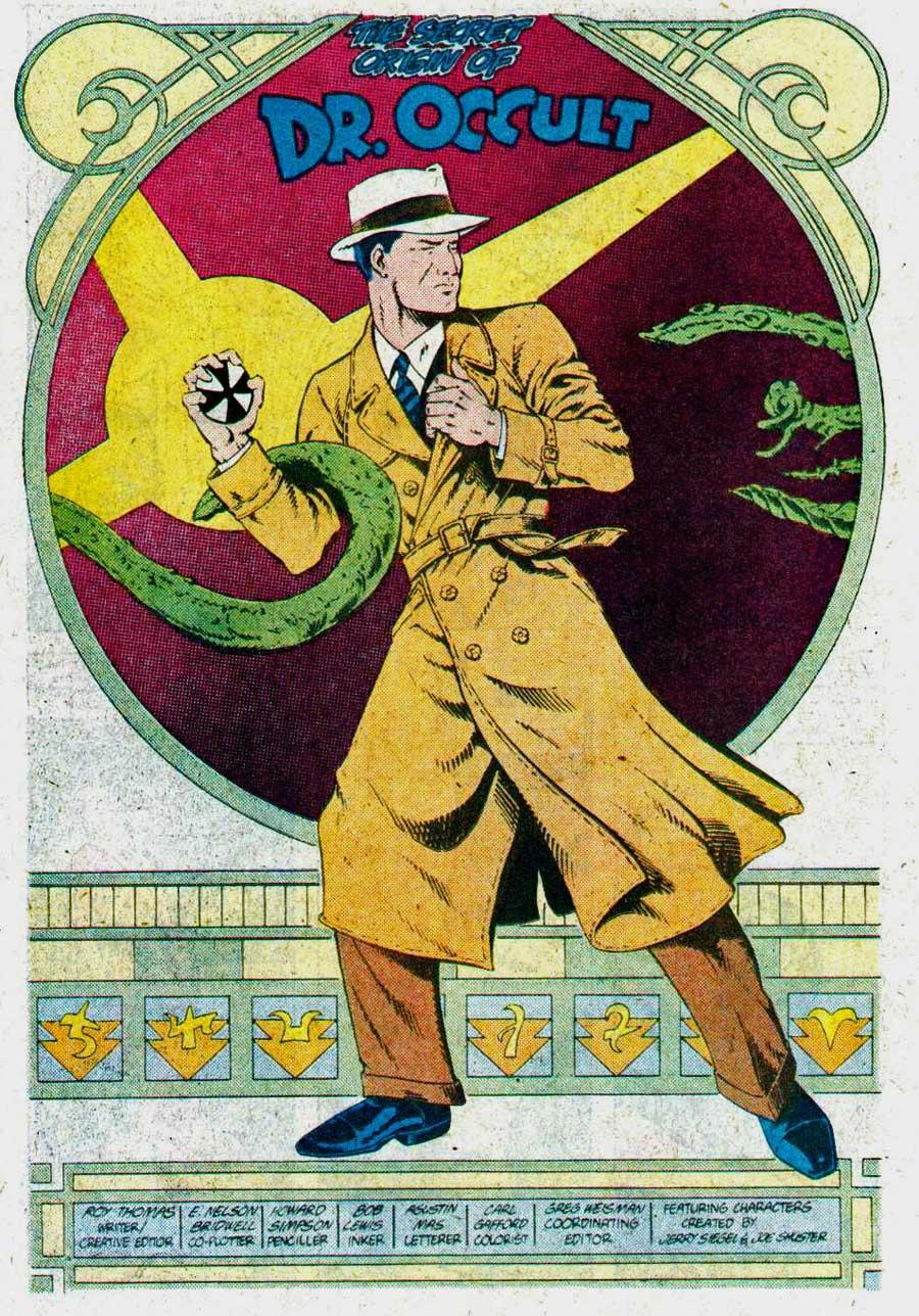 "Secret Origins Vol. 2 #17 (August 1987): ""The Secret Origin of Dr. Occult"" by Roy Thomas, E. Nelson Bridwell, Howard Simpson, and Bob Lewis"