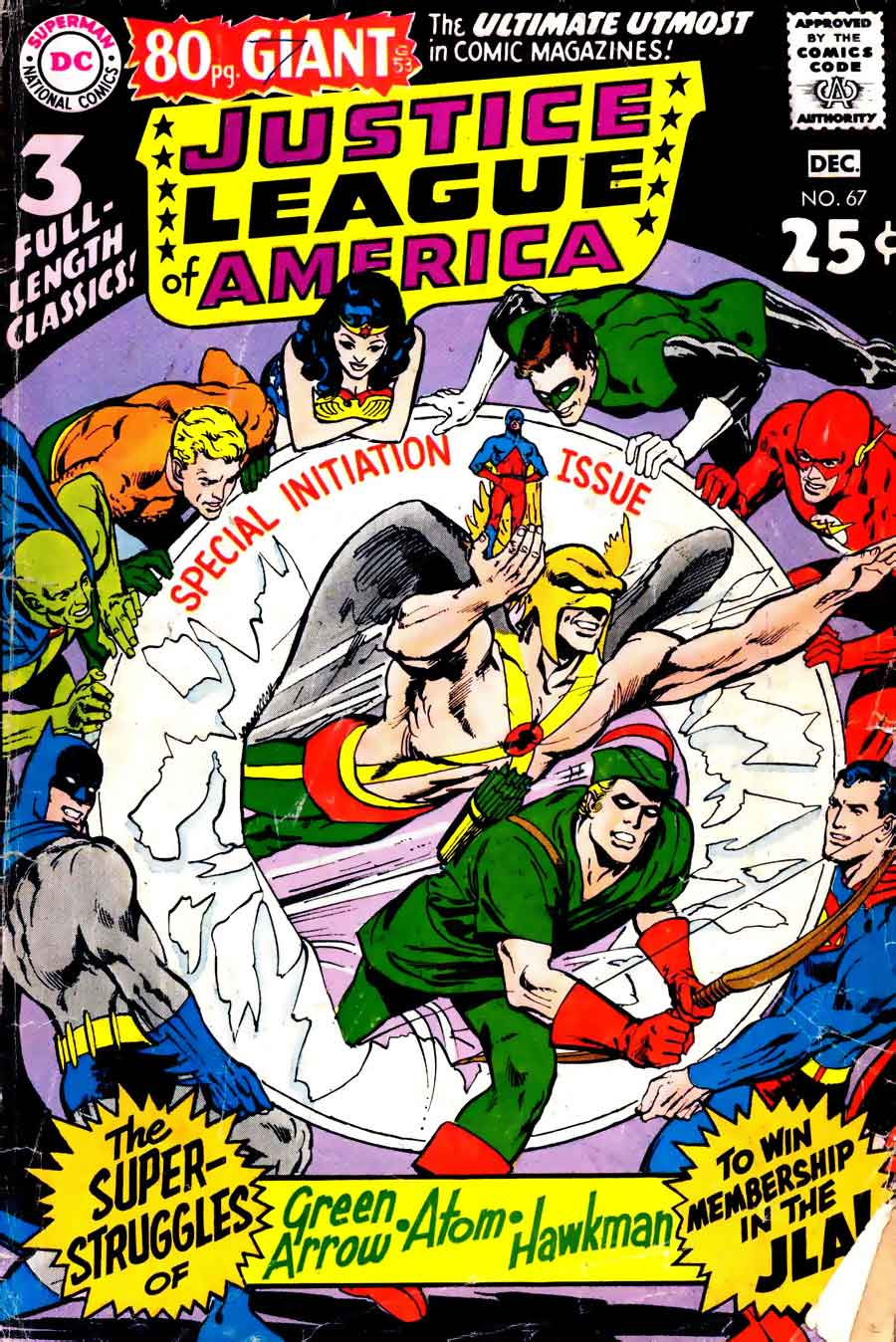 Justice League of America #67 cover by Neal Adams
