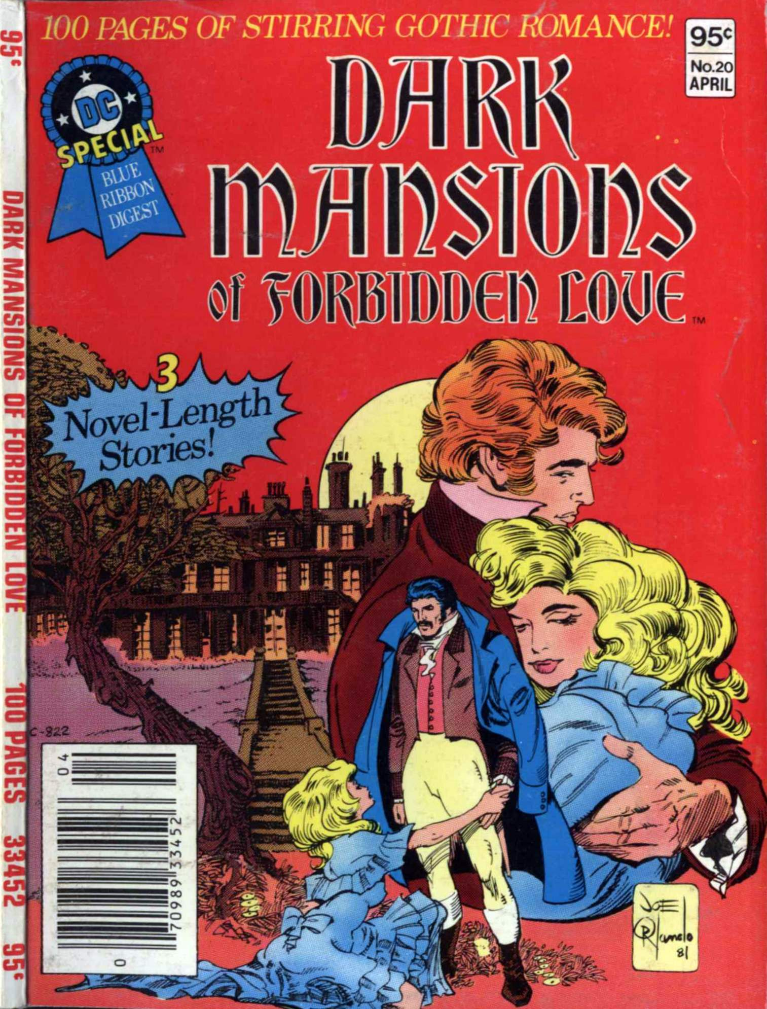 DC Special Blue Ribbon Digest #20: Dark Mansions of Forbidden Love cover by Joe Orlando