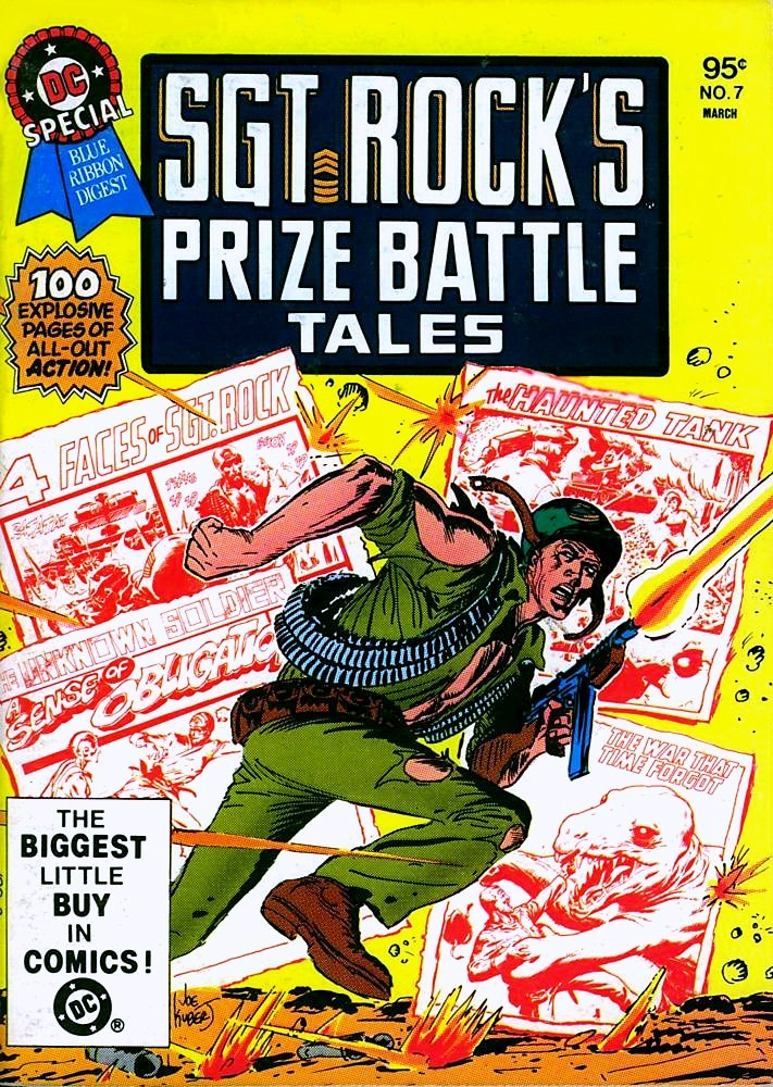 DC SPECIAL BLUE RIBBON DIGEST #7: SGT. ROCK'S PRIZE BATTLE TALES cover by Joe Kubert