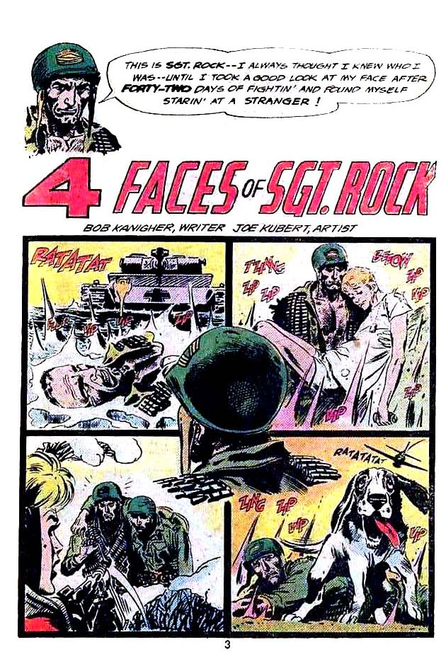 "Sgt. Rock & the Men of Easy Company in ""4 Faces of Sgt. Rock"" by Bob Kanigher and Joe Kubert"