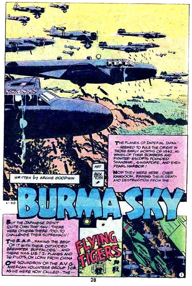 "The Flying Tigers in ""Burma Sky"" by Archie Goodwin and Alex Toth"