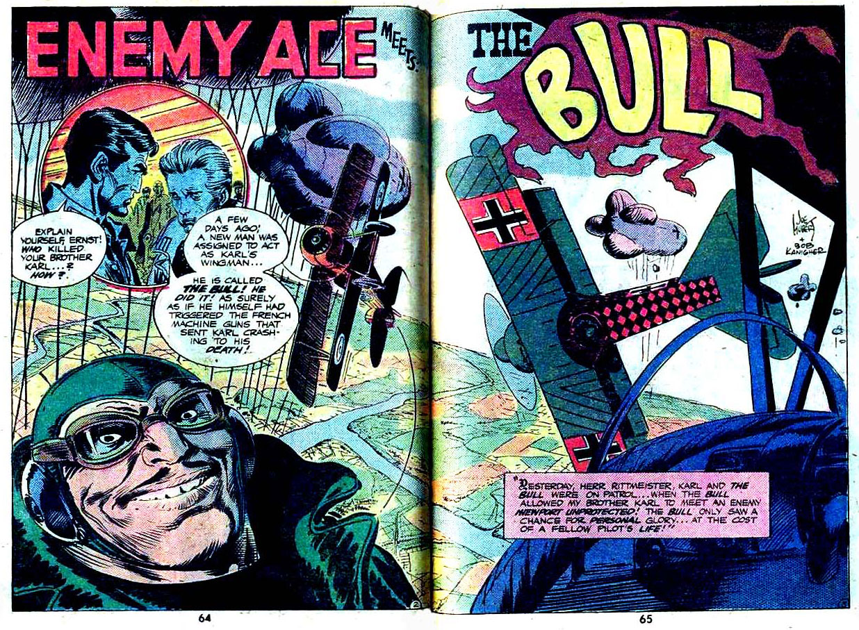 """Enemy Ace Meets The Bull"" by Robert Kanigher and Joe Kubert"