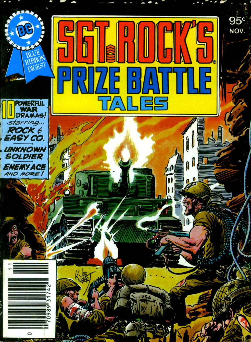 DC SPECIAL SERIES #18: SGT. ROCK'S PRIZE BATTLE TALES cover by Joe Kubert