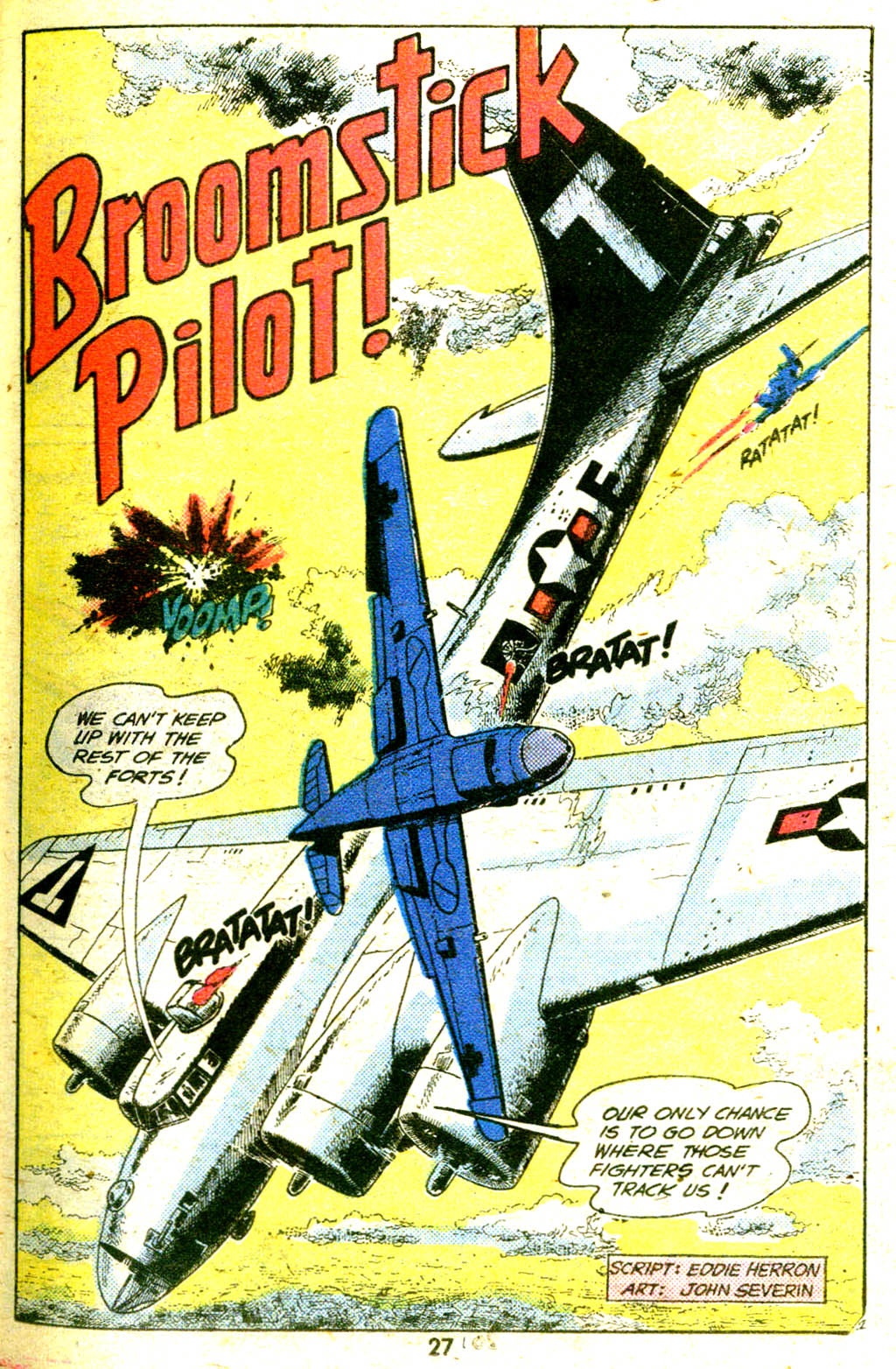 """Broomstick Pilot"" by France E. Herron and John Severin"
