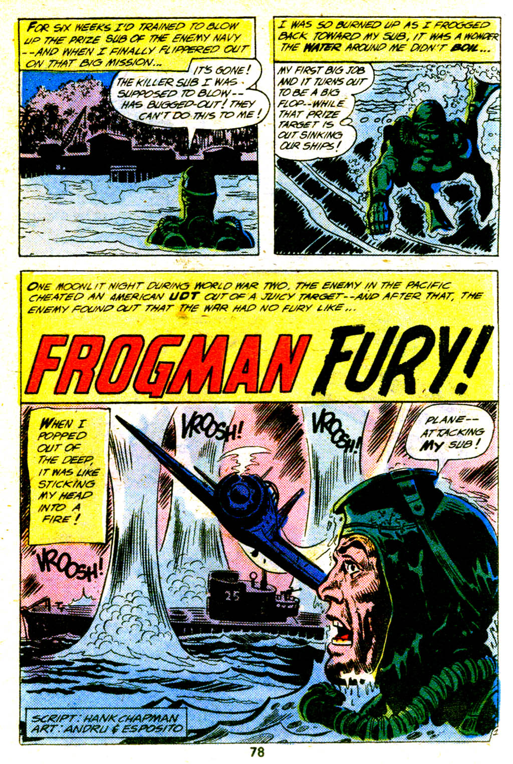 """Frogman Fury"" by Hank P. Chapman, Ross Andru, and Mike Esposito"
