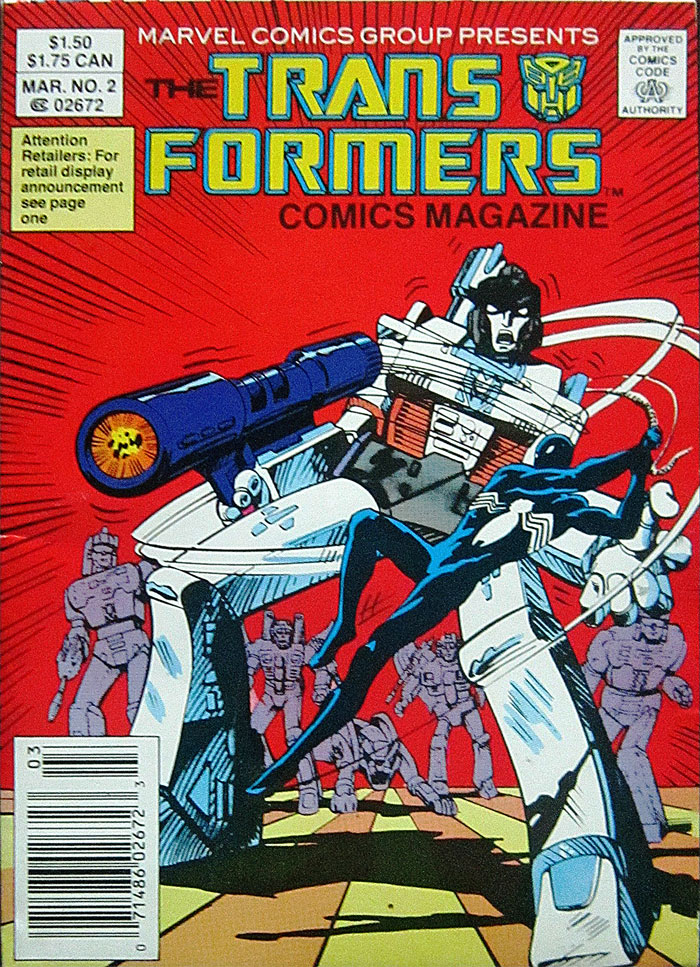TRANSFORMERS COMICS MAGAZINE #2 cover by Mike Zeck