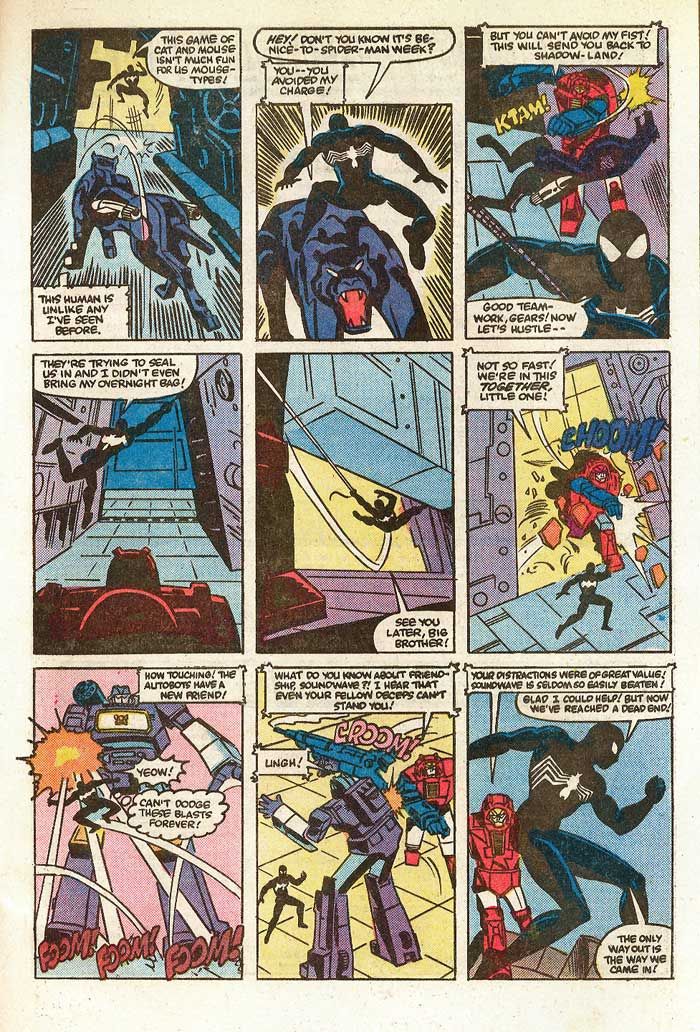 """Prisoner of War"" from TRANSFORMERS #3 - written by Jim Salicrup with art by Frank Springer, Kim DeMulder, and Mike Esposito"