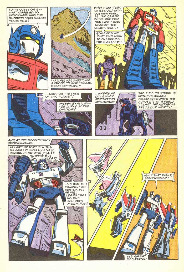 """The Last Stand"" from TRANSFORMERS #4 - written by Jim Salicrup with art by Frank Springer, Ian Akin, and Brian Garvey"