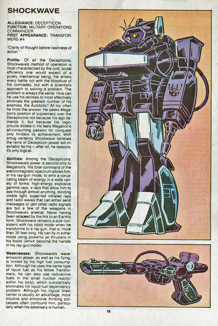 Transformers Universe entry for Shockwave