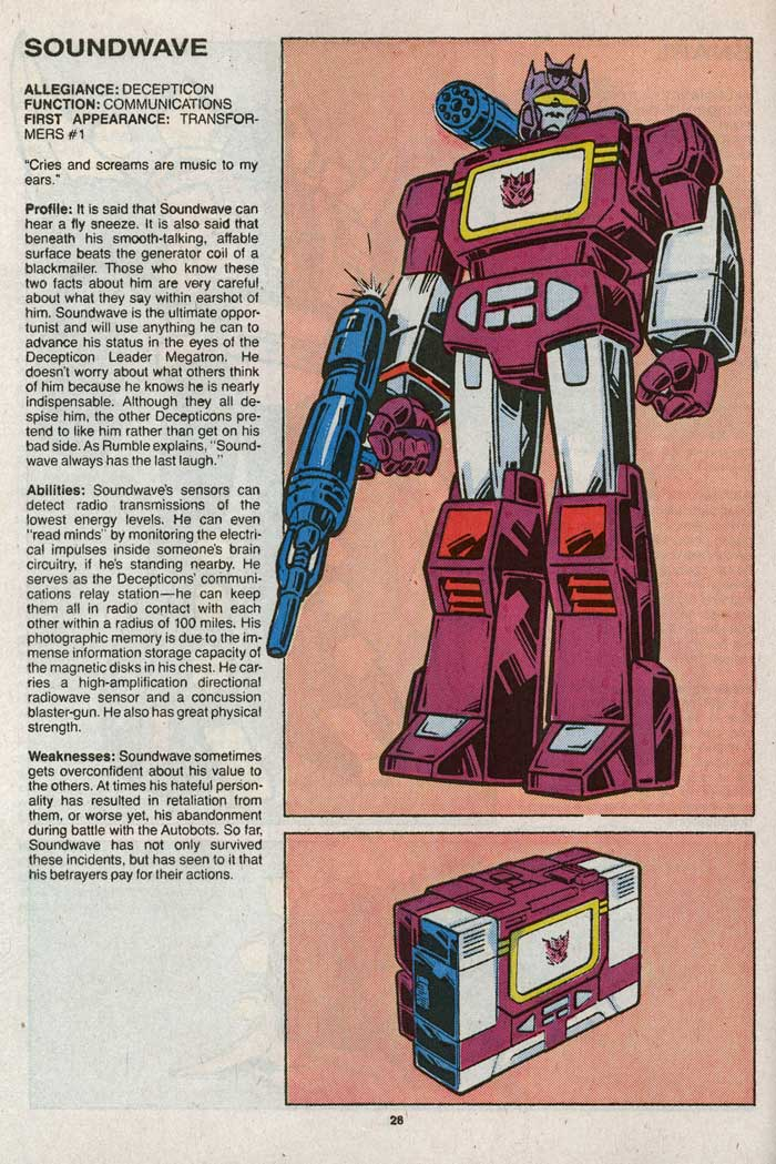 Transformers Universe entry for Soundwave