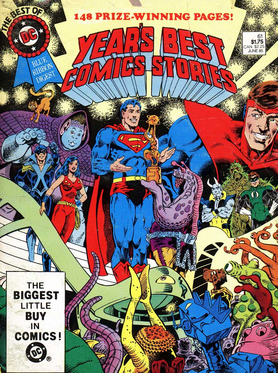 Best of DC Blue Ribbon Digest #61: Year's Best Comic Stories 1984 cover by Pat Broderick