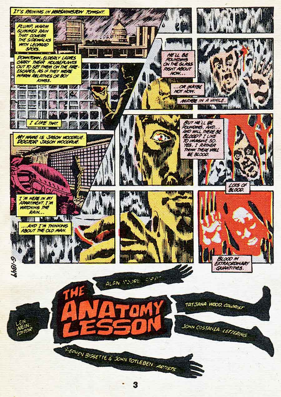 "Best of DC Blue Ribbon Digest #61: Year's Best Comic Stories 1984 - Swamp Thing: ""The Anatomy Lesson"" by Alan Moore, Steve Bissette and John Totleben"