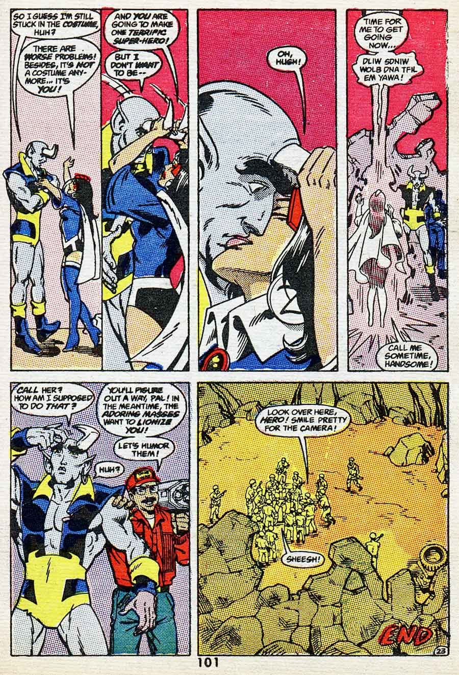 "Best of DC Blue Ribbon Digest #61: Year's Best Comic Stories 1984 - Blue Devil: ""Viva Nebiros"" by Gary Cohn, Dan Mishkin, Paris Cullins and Gary Martin"