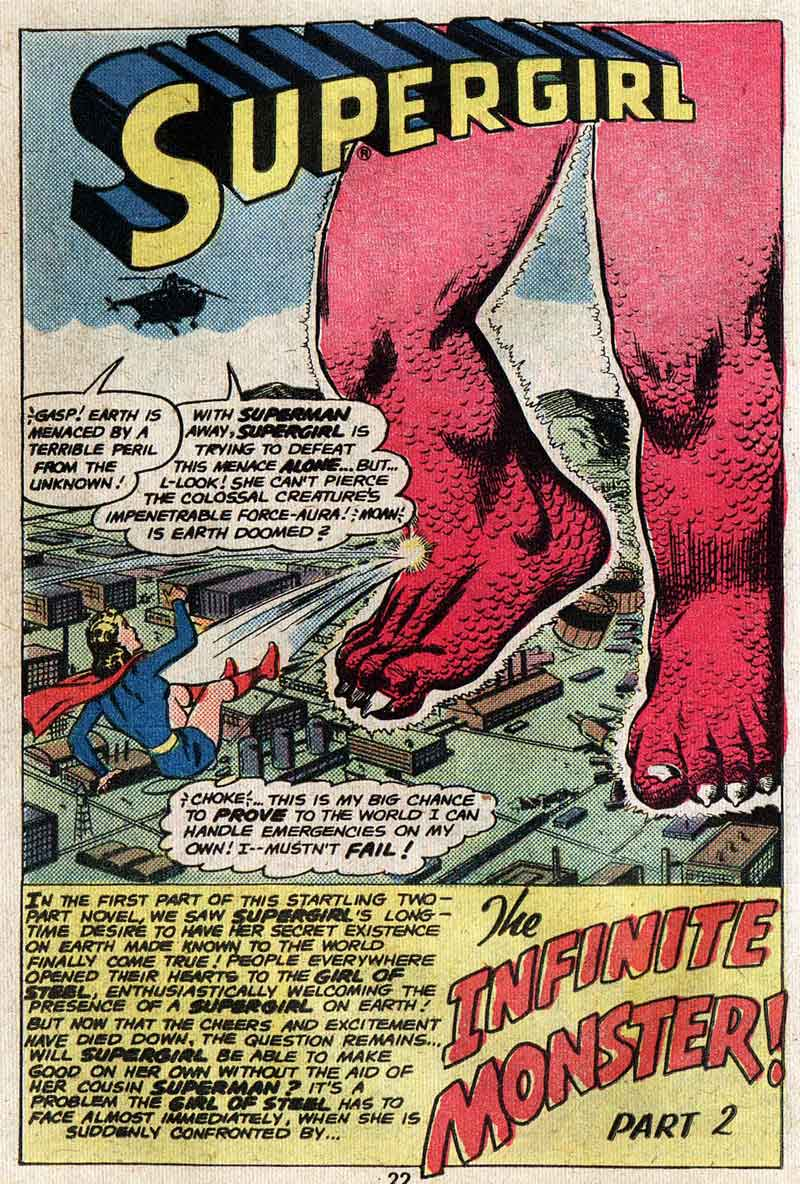 """The World's Greatest Heroine/The Infinite Monster"" by Jerry Siegel & Jim Mooney"