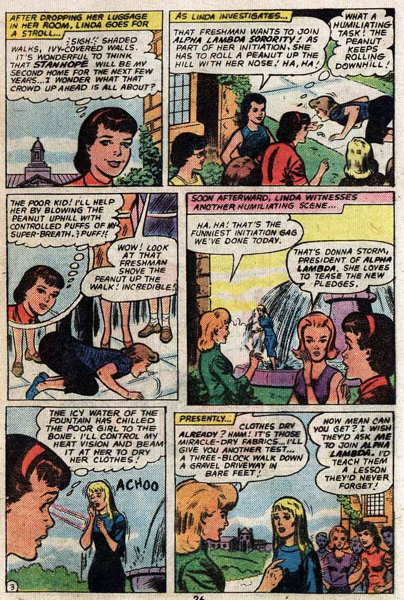 """Supergirl Goes to College"" by Leo Dorfman & Jim Mooney"