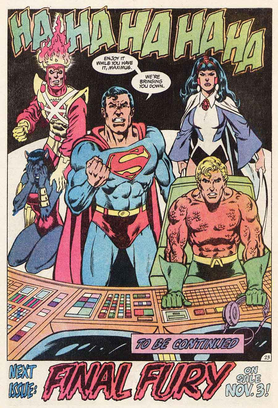 Justice League of America #222 by Gerry Conway, Chuck Patton and Romeo Tanghal