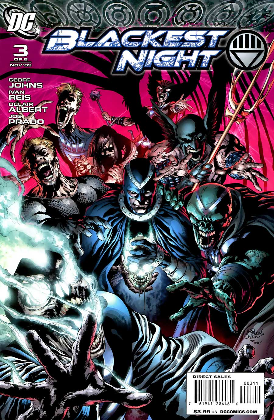 BLACKEST NIGHT #3 - cover by Ivan Reis, Oclair Albert and Alex Sinclair