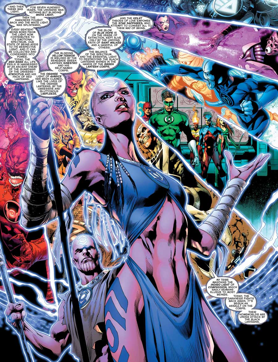 BLACKEST NIGHT #3 by Geoff Johns, Ivan Reis, Oclair Albert, Joe Prado and Alex Sinclair