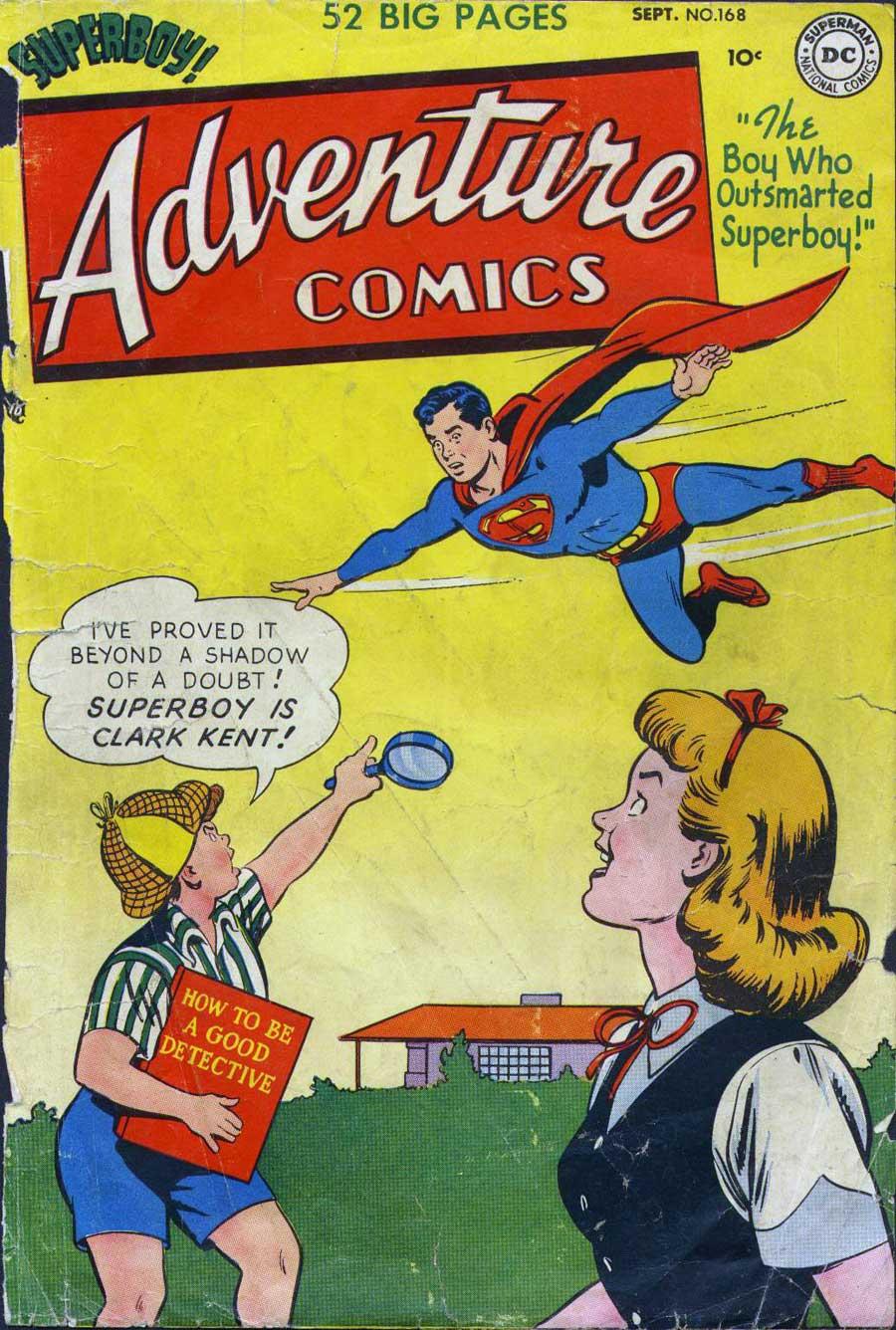 Adventure Comics #168 Sept 1951 cover