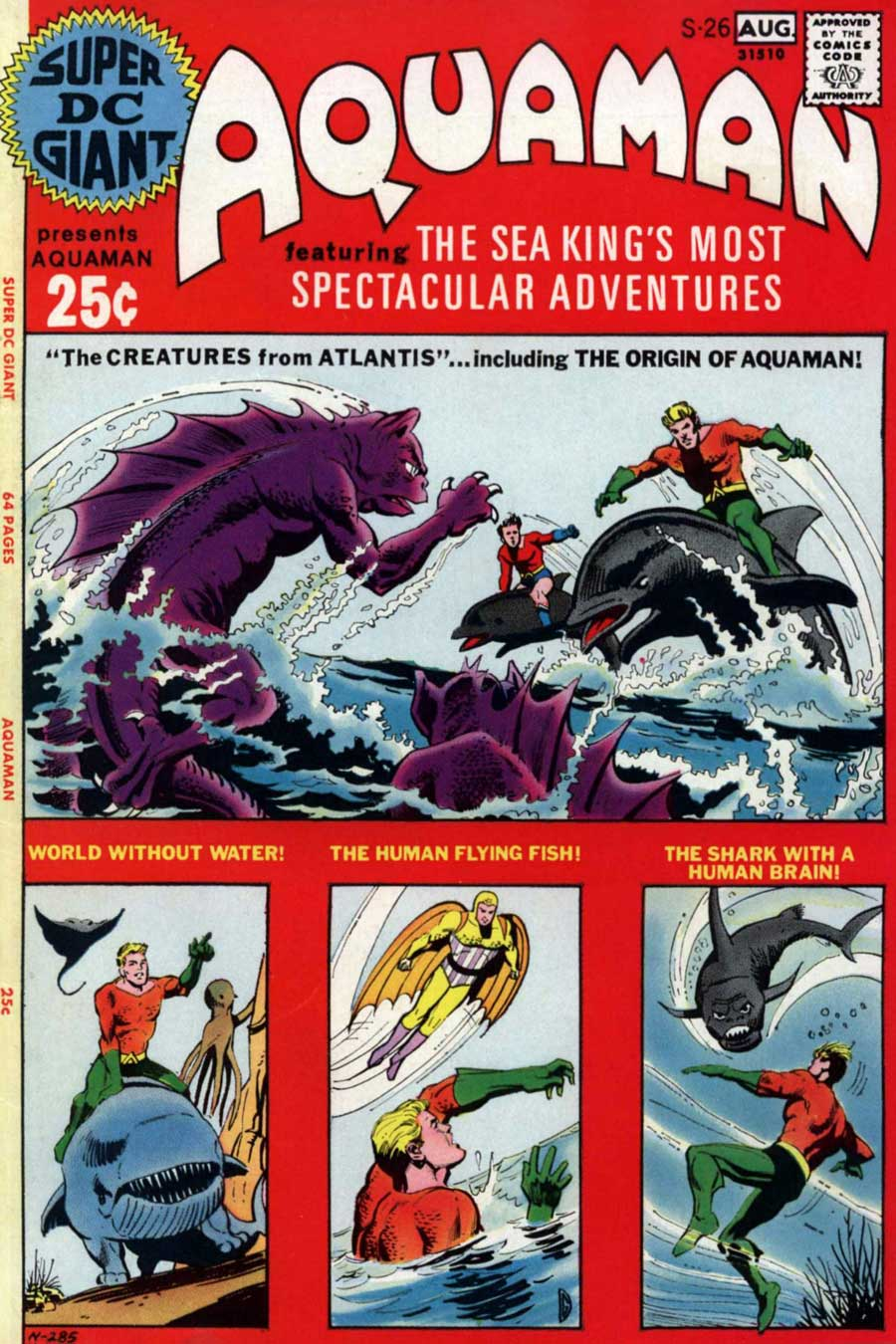 SUPER DC GIANT #26 featuring Aquaman by Ramona Fradon