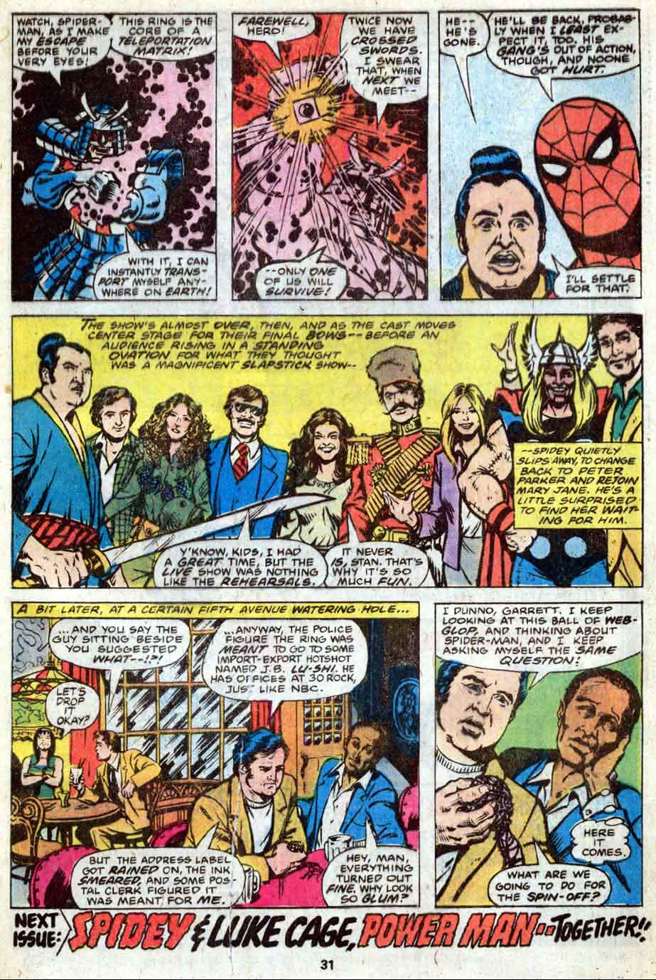 MARVEL TEAM-UP #74 featuring Spider-Man and the cast from Saturday Night Live