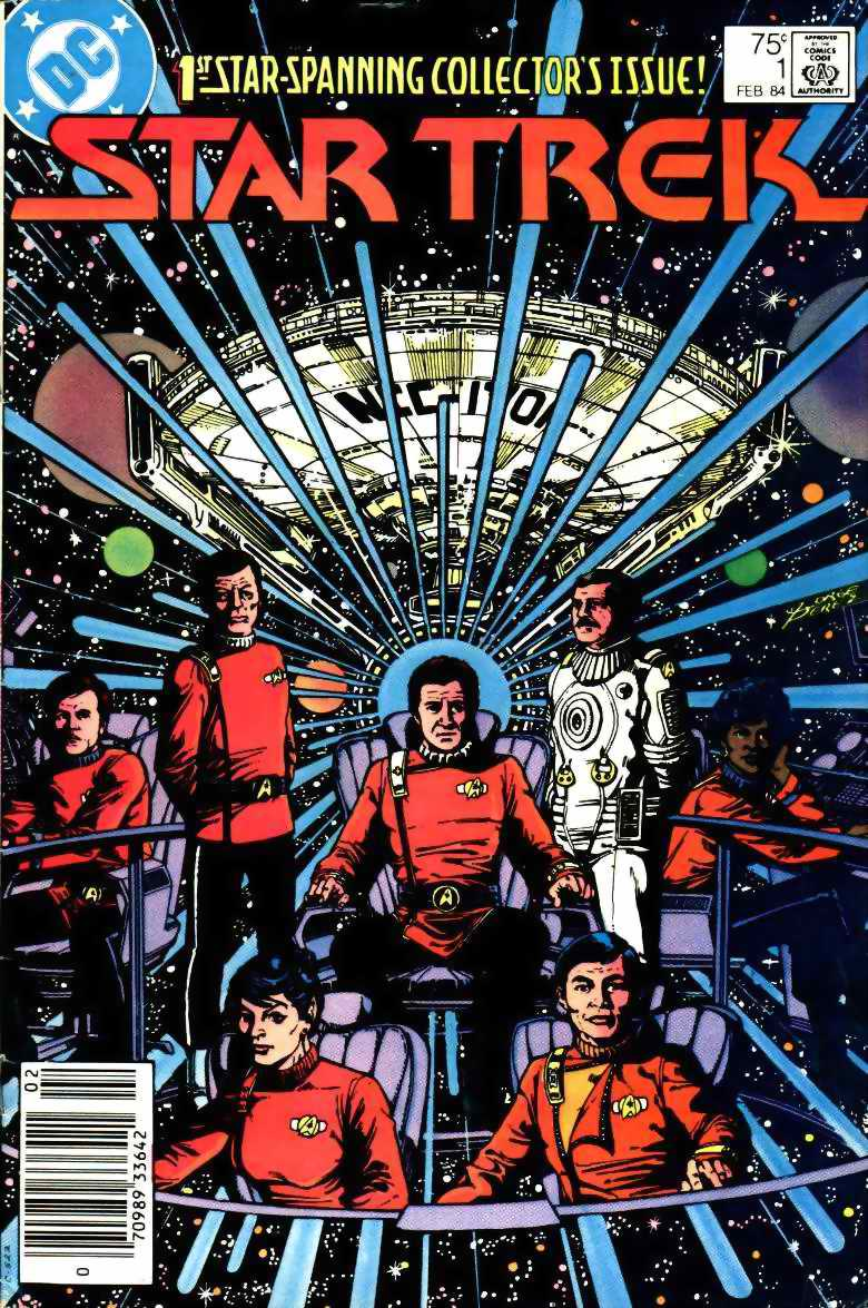 STAR TREK #1 by DC Comics written by Mike W. Barr, interior art by Tom Sutton and Ricardo Villagran, with a cover by George Perez