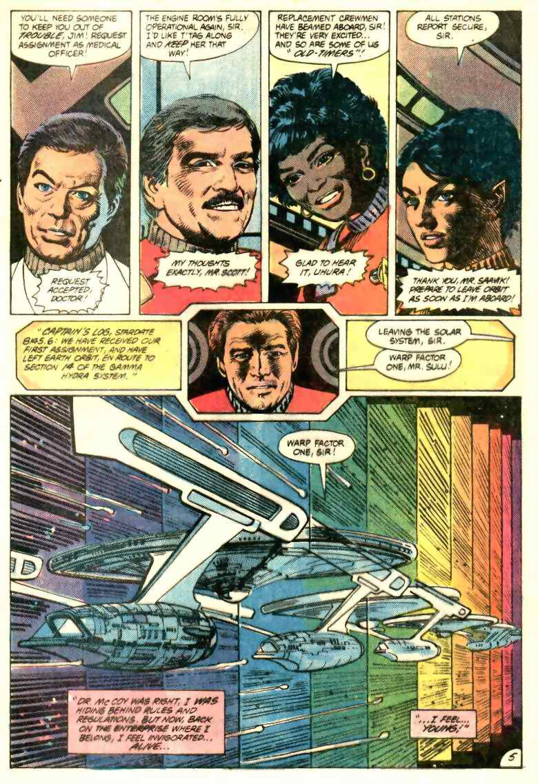 STAR TREK #1 by DC Comics written by Mike W. Barr, interior art by Tom Sutton and Ricardo Villagran