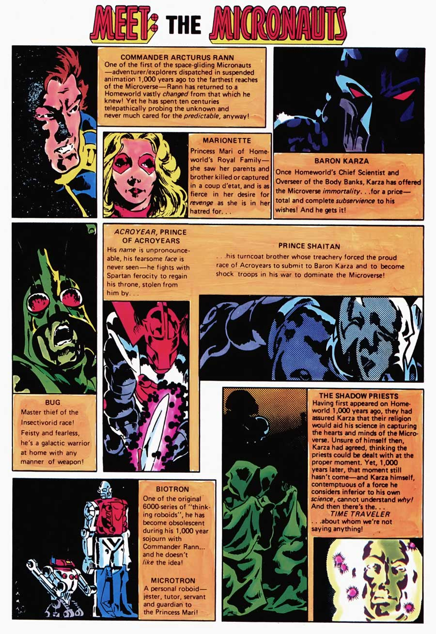 Micronauts #1 by Bill Mantlo and Michael Golden
