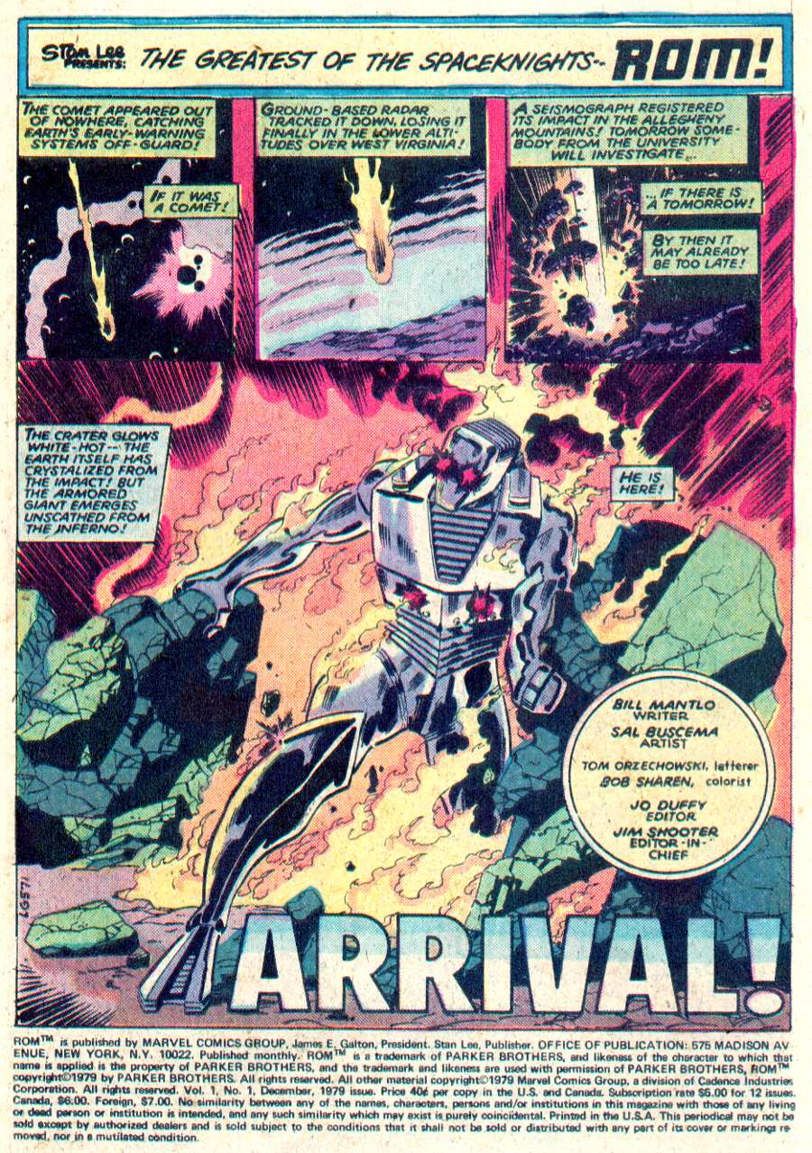 Rom Spaceknight #1 by Bill Mantlo and Sal Buscema