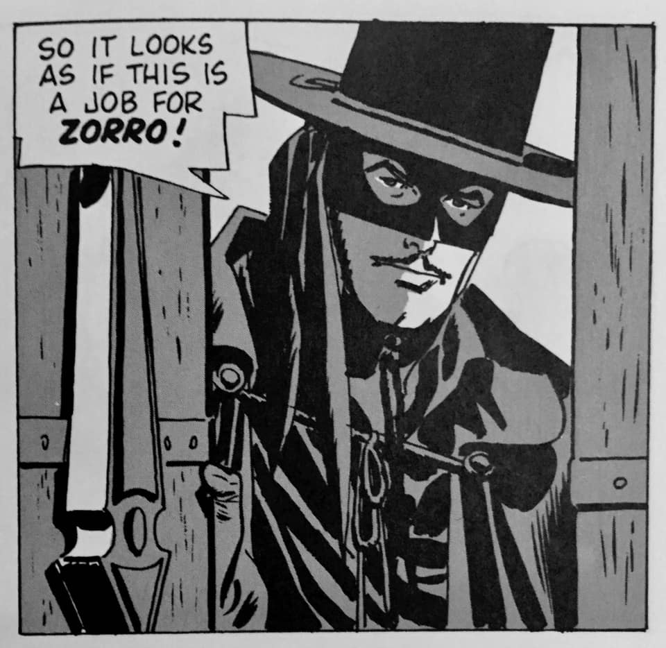 """Zorro Panel from """"The Eagle's Brood"""" with art by Alex Toth"""