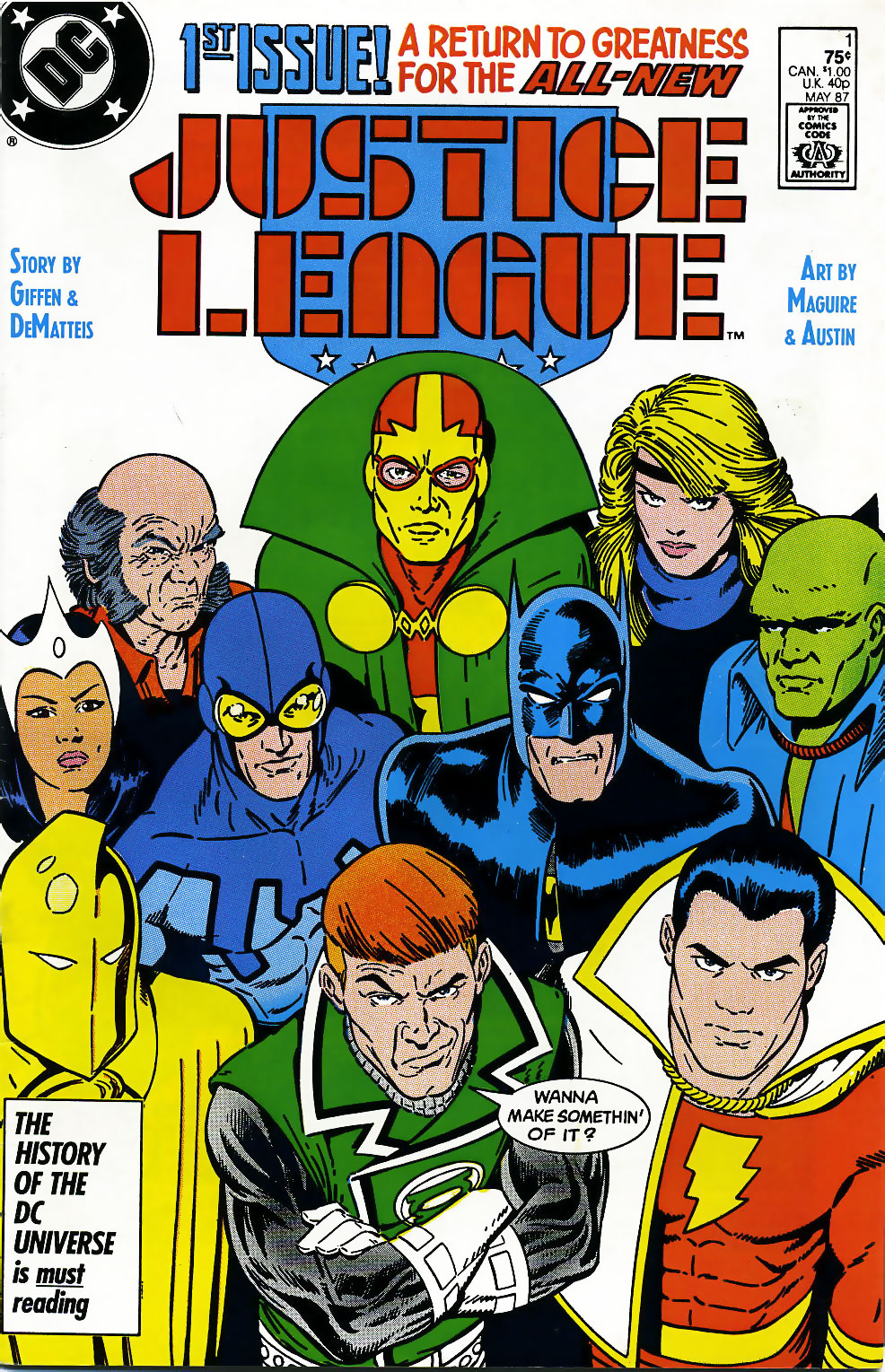 Justice League #1 cover by Kevin Maguire and Terry Austin