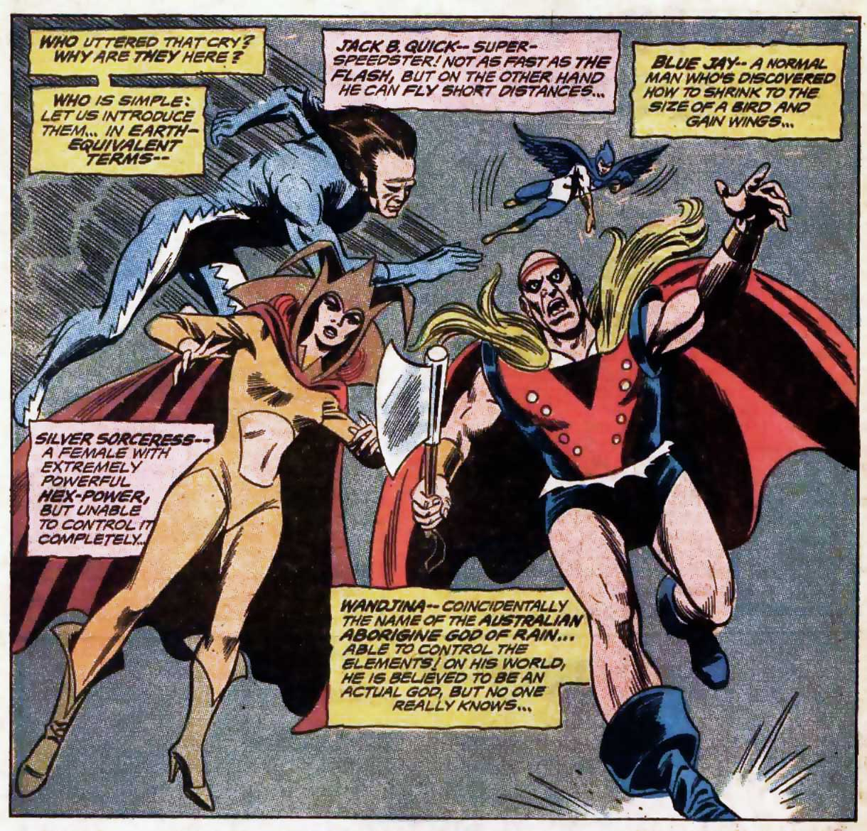 Champions of Angor from Justice League of America #87 by Mike Friedrich, Dick Dillin and Joe Giella