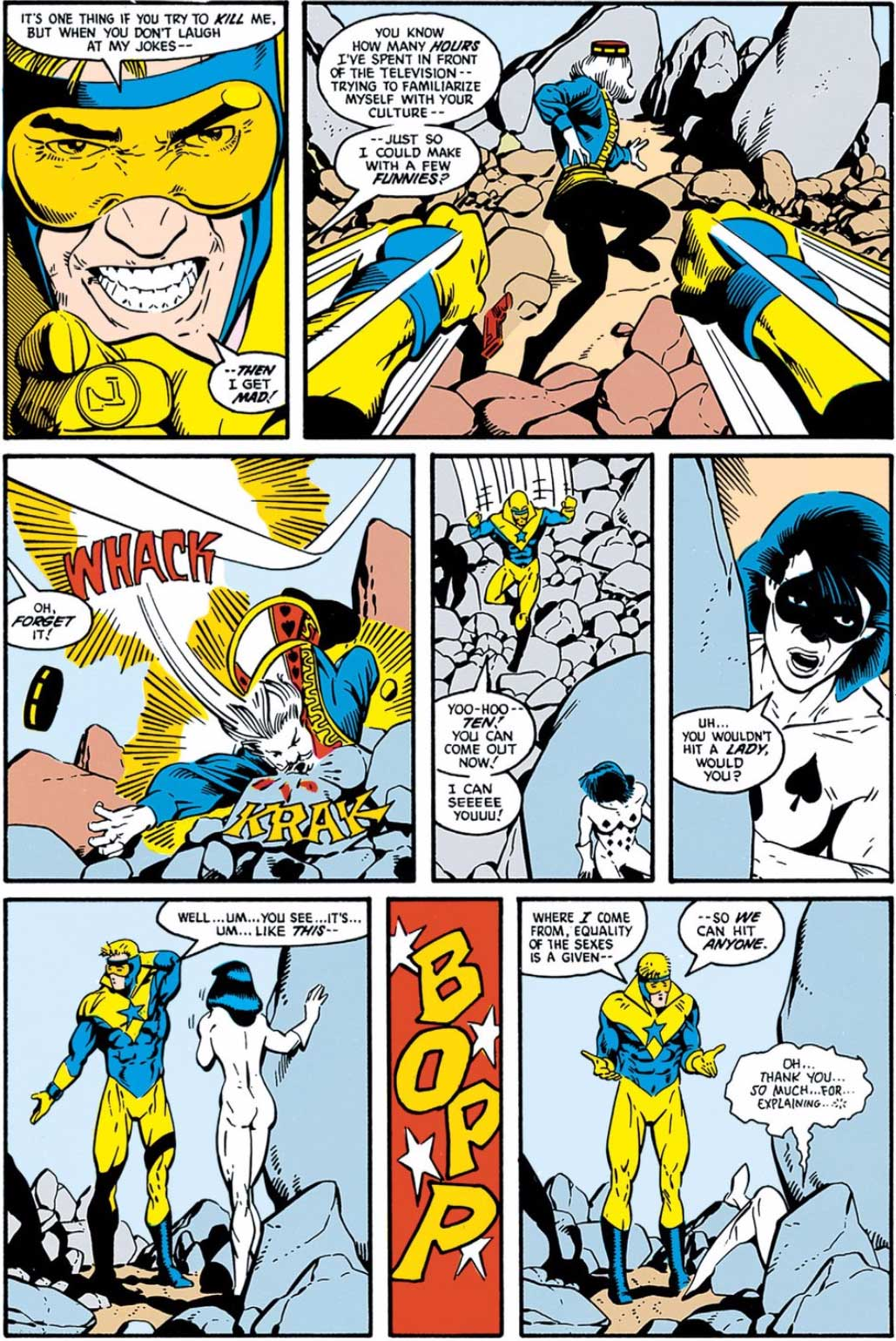 Justice League #4 by Keith Giffen, J.M. DeMatteis, Kevin Maguire and Al Gordon